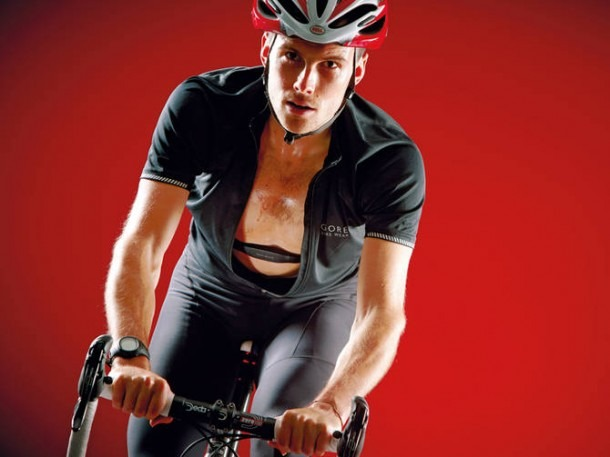 Riding a bike using a heart rate monitor